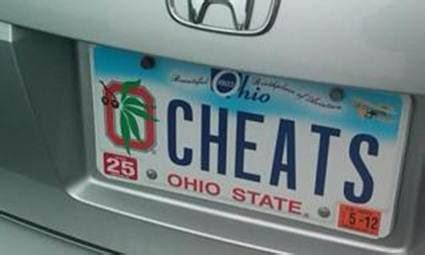 college football best personalized license plate in ohio