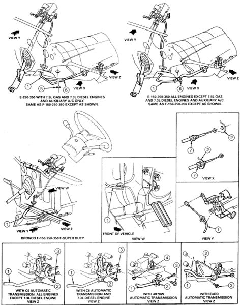 how to fix transmission linkage on a 1996 mitsubishi galant 1984 ford truck f250 3 4 ton p u 4wd 4 9l 1bl ohv 6cyl repair guides automatic transmission