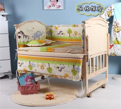 Baby Crib Set Sale 5pcs Set Baby Crib Bedding Set Baby Bedding Set Newborn Baby Bed Set Crib Bumper Baby