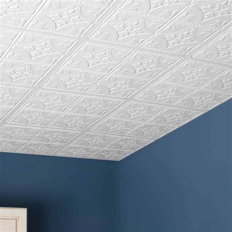Ceiling Tiles - genesis ceiling tile 2x2 antique tile in white