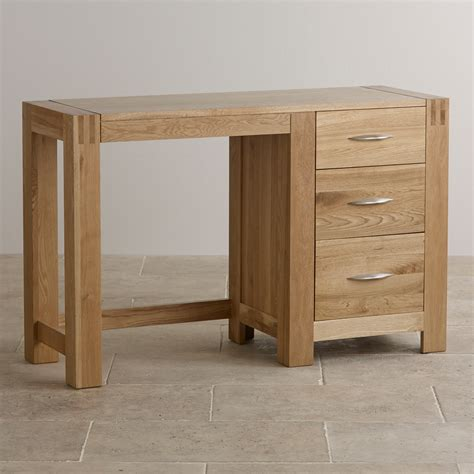 Alto Dressing Table in Natural Solid Oak   Oak Furniture Land