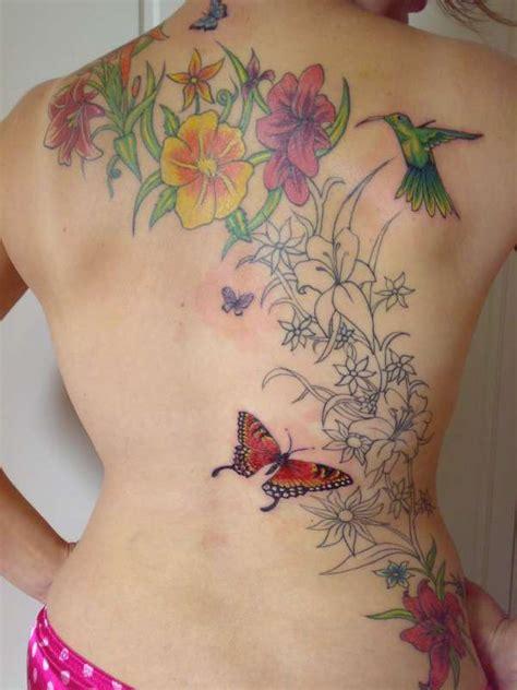 tatu fiori flower back work in progress