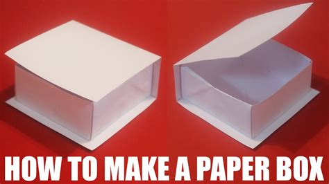 How To Make With Paper - how to make a paper box with a lid that opens