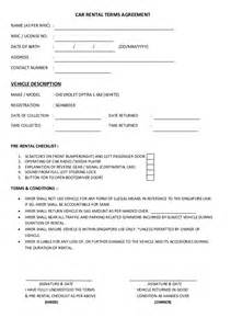 Car Hire Agreement Form In Kenya Car Rental Terms Agreement