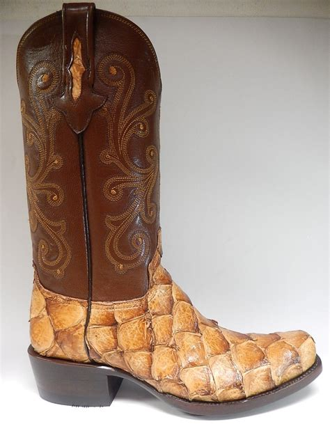 fish boots safari pirarucu fish cowboy boots ebay