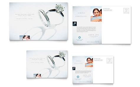 jewelry templates jeweler jewelry store postcard template design