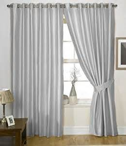 Silver Kitchen Curtains Silver Grey Eyelet Curtains Faux Silk Charisma 90 X 108 Co Uk Kitchen Home