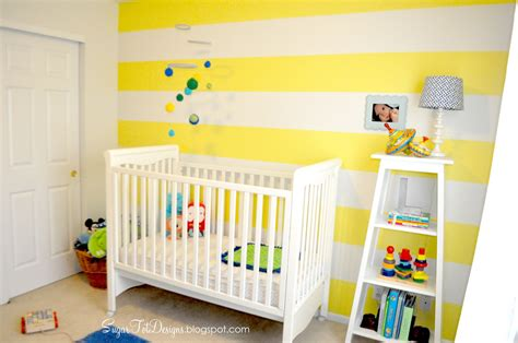 interior amazing yellow white stripes wall paint color baby nursery come with white wooden
