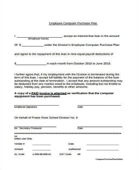 Staff Purchasing sle staff purchase forms 7 free documents in word pdf
