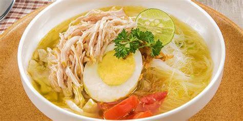 resep membuat soto ayam santan 3 resep dan cara membuat soto ayam bening enak dan