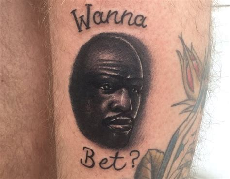floyd mayweather tattoo fan gets floyd mayweather after losing bet on