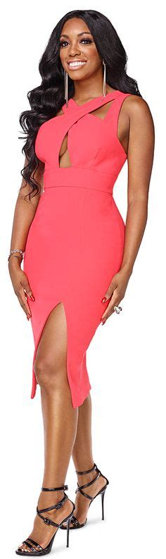 porsha williams atlanta housewives wardrobe porsha stewart s topshop pink sweetheart body con dress on