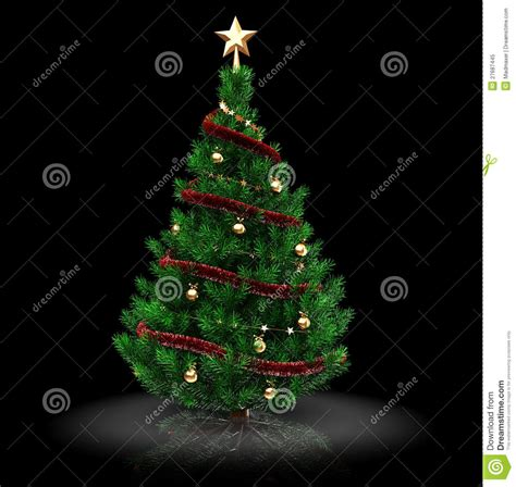 225 rbol de navidad 3d foto de archivo libre de regal 237 as