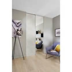 porte de placard coulissante glisseo d 233 cor miroir argent