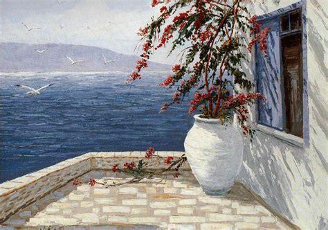 painting images greek landscape