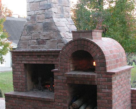 Fireplace Pizza Oven Combo by The Family Wood Fired Brick Pizza Oven By Brickwood