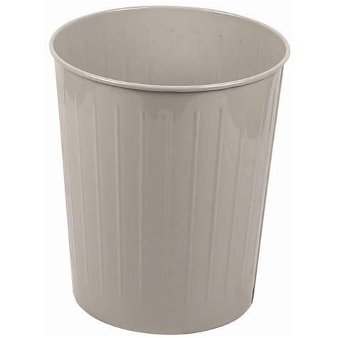 waste basket witt 4sl 26 qt round waste basket metal slate