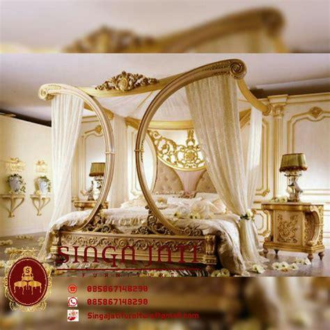 Tempat Tidur Kelambu Minimalis tempat tidur kelambu kanopi singa jati furniture