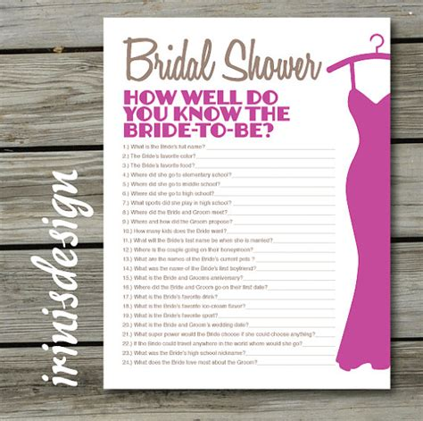 Bridal Shower Questions by Bridal Shower Quiz How Well Do You The