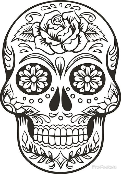 mexican day coloring pages cool sugar skull coloring page
