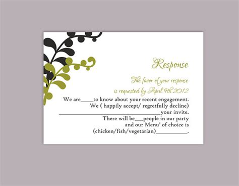 Diy Wedding Rsvp Template Editable Text Word File Download Printable Rsvp Cards Leaf Rsvp Black Rsvp Template Word