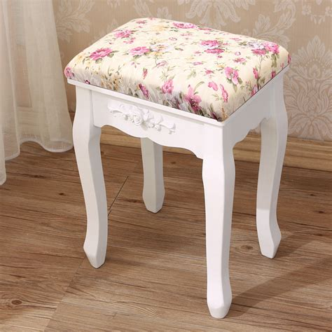 soft padded dressing table stool piano bedroom rest