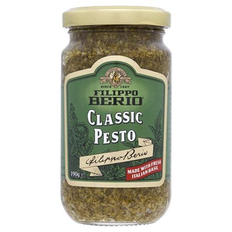 Filippo Berio Classic Pesto 190gr filippo berio classic pesto 190g approved food