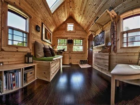 architecture interior design tiny house living pano