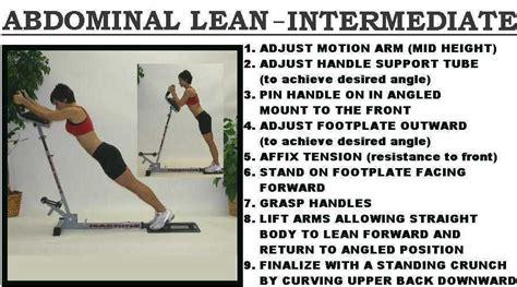abdominal lean intermediate   lean abs machinethe