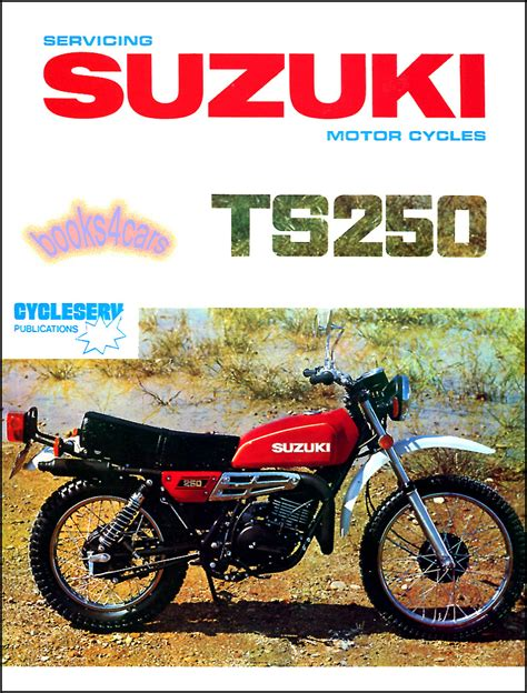 Suzuki Books Suzuki Ts250 Shop Manual Service Repair Book Ts 250 69 81