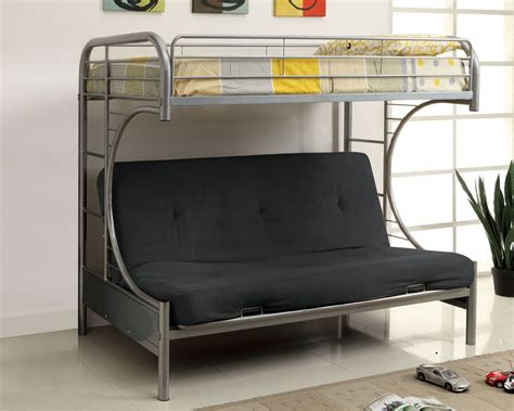 Metal Bunk Bed With Futon Metal Futon Bunk Bed Roof Fence Futons