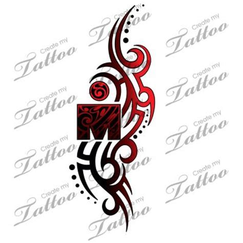 flowing tattoo designs a unique ironman design with the m dot logo