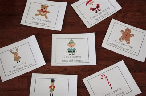 free printable christmas action cards show and share saturday link up i can teach my child
