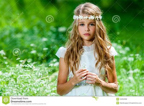 pre teen photography beautiful pre teen in green field stock photo image of