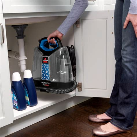 bissell spotclean portable carpet upholstery cleaner spotclean proheat portable carpet cleaner 5207f storage