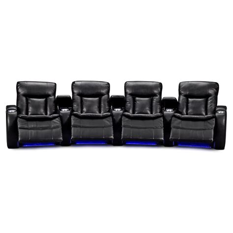 home theatre sectionals larson leather 4 pc power reclining home theater