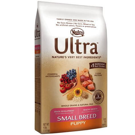 nutro small breed puppy food nutro ultra small breed puppy food 4 lb
