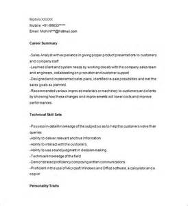Resume Sles For Analyst Marketing Analyst Resume Template 16 Free Sles Exles Format Free