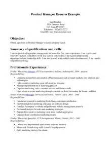 product manager resume sle best template collection