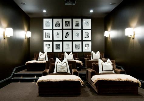movie room recliners photo walls contemporary media room melanie turner