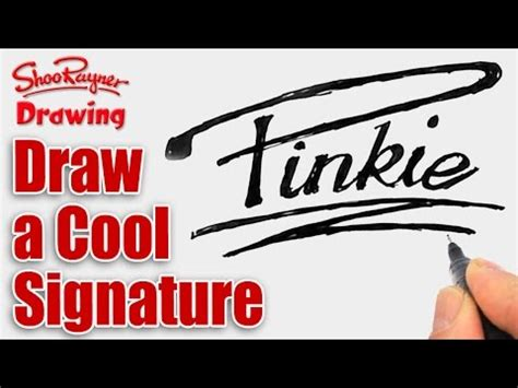 how to draw a cool signature youtube