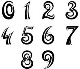 25 number tattoo designs