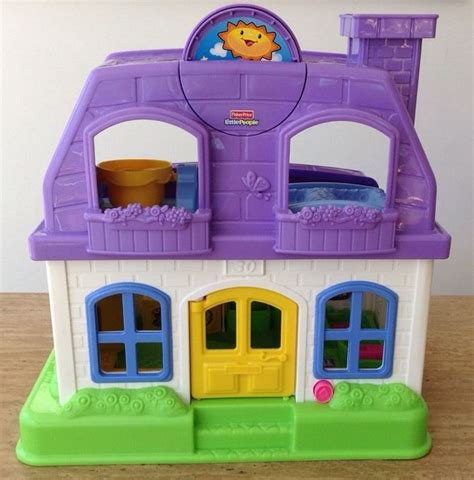 fisher price little people dolls house fisher price little people sweet sounds purple home doll house mattel toy 2008 ebay