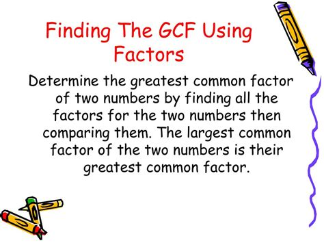 powerpoint tutorial gcf ppt finding the greatest common factor powerpoint