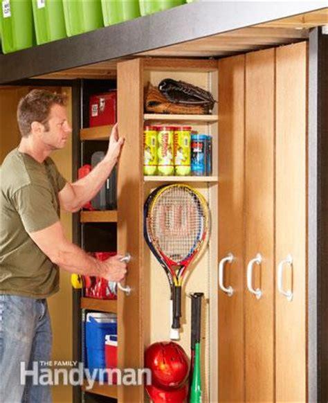 Garage Organization Handyman Garage Storage Space Saving Sliding Shelves The Family