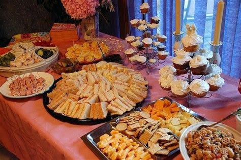 food network bridal shower brunch baby shower food menus ideas a couples baby shower menu