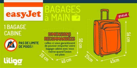 bagages easyjet prix poids dimensions liligo