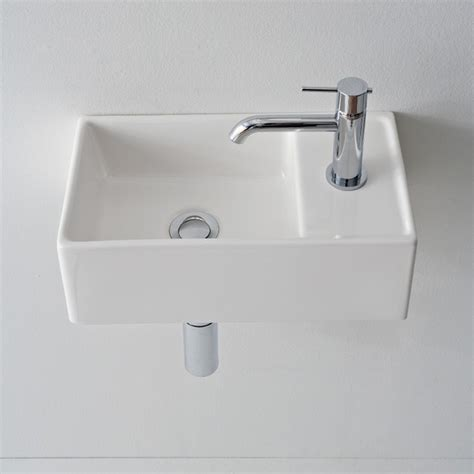 ceramic sinks bathroom compact square ceramic vessel or wall mounted bathroom