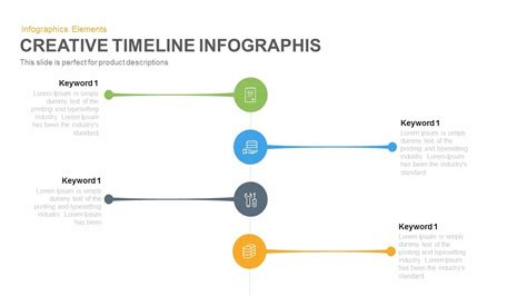 creative timeline infographic powerpoint and keynote