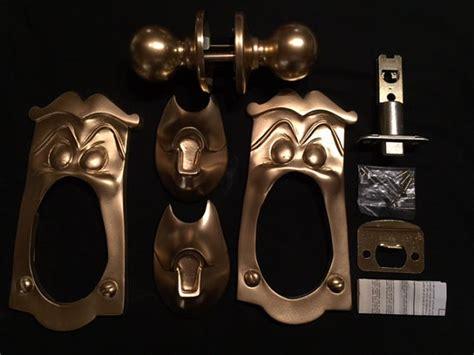 in door knob set of 2 plates